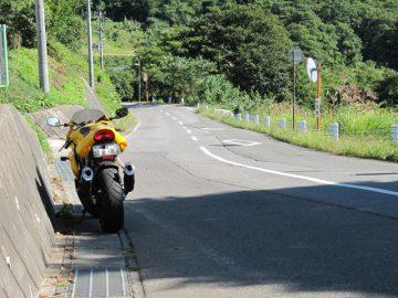 永田から中野に抜ける途中。少々道が荒れている。