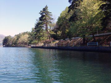 青木湖)新緑の湖畔