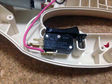 マキタの充電式掃除機に入れた、新しいオムロンのマイクロスイッチ