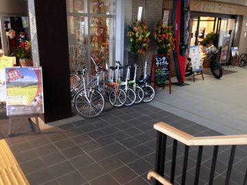 レンタル自転車もある