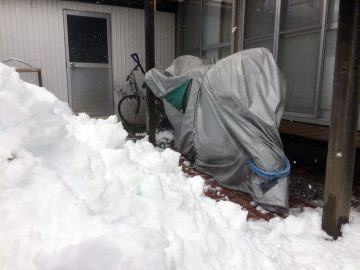 748Rに雪が迫ってきている!