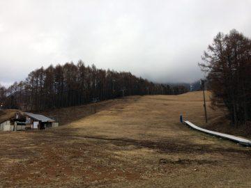 もう完全に雪のない飯綱高原スキー場