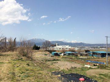 須坂墨坂南から北信五岳を望む