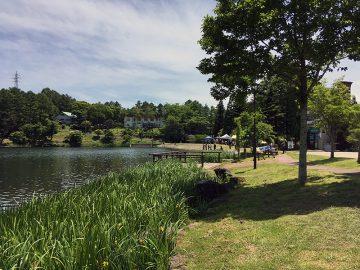 聖湖ではバス釣りイベントの真っ最中