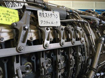 F104「スターファイター」のエンジン;可変ステーター・ベーン(静翼)
